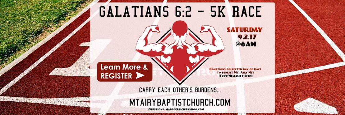 Galations 6-2- 5K Race