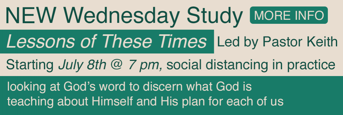 New Wednesday Night Study - Click for more info